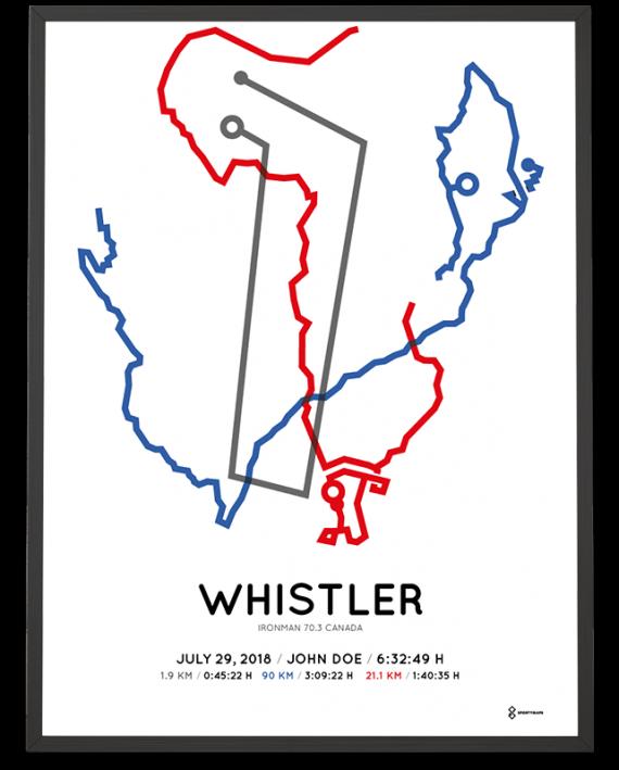 2018 Ironman 70.3 whistler course poster