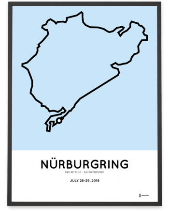 2018 Rad am ring 24h radrennen course poster