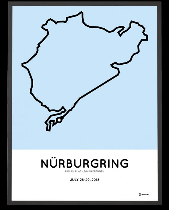 2018 Rad am ring 24h radrennen course poster