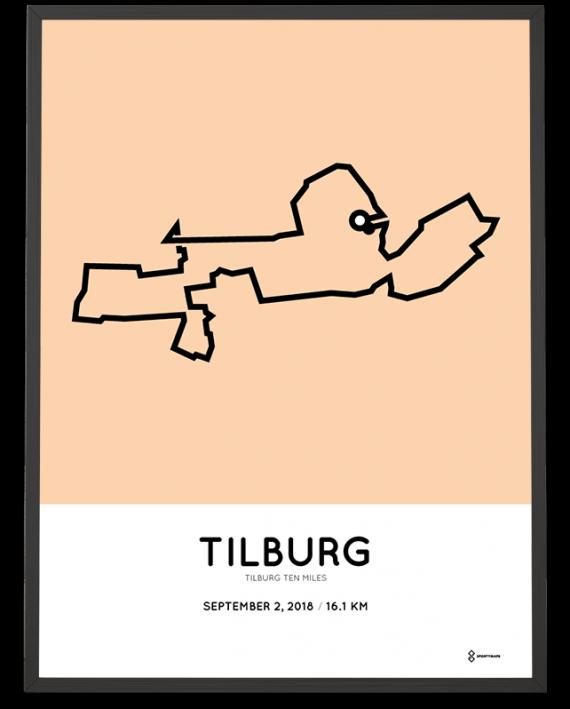 2018 Tilburg Ten Miles parcours poster