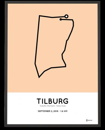 2018 Tilburg Ten Miles Family run route poster
