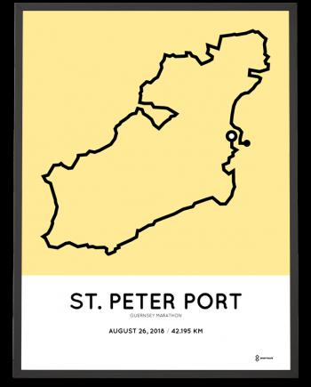 2018 guernsey marathon course sportymaps print