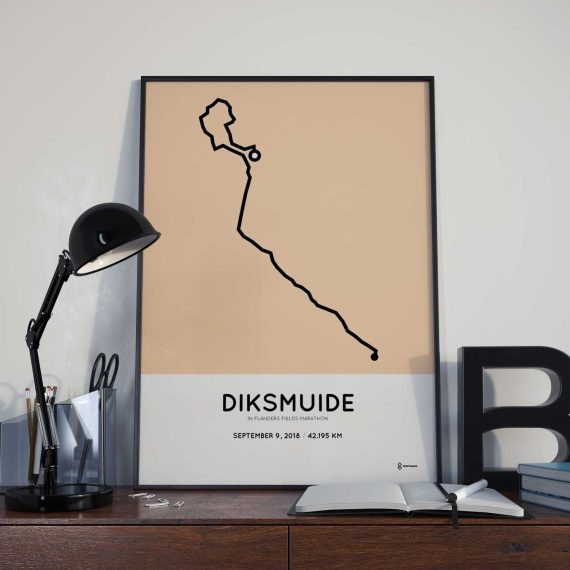 2018 Flanders Fields marathon route poster