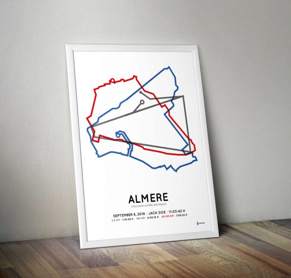 2018 challenge almere-amsterdam parcours poster