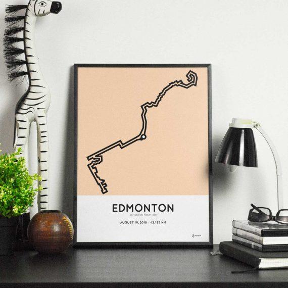 2018 edmonton marathon parcours sportymaps poster