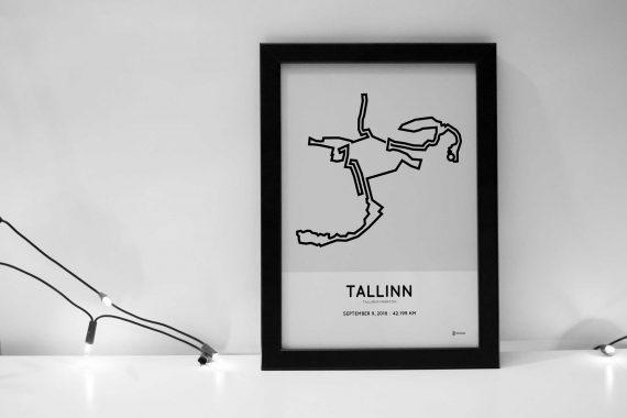2018 tallinn marathon course sportymaps print