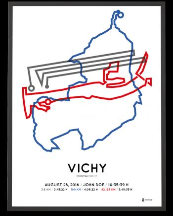 2016 Ironman Vichy parcours print