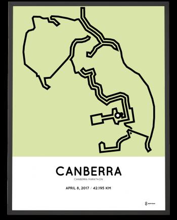 2017 Canberra marathon course poster