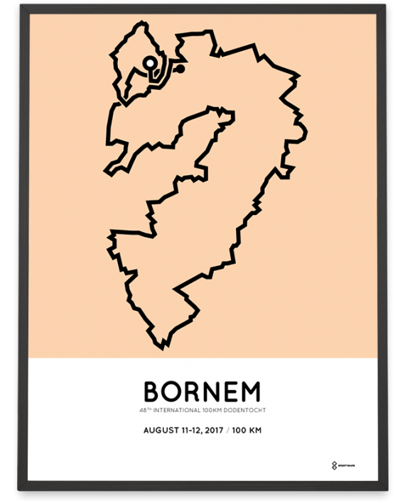 2017 International 100km dodentocht route poster