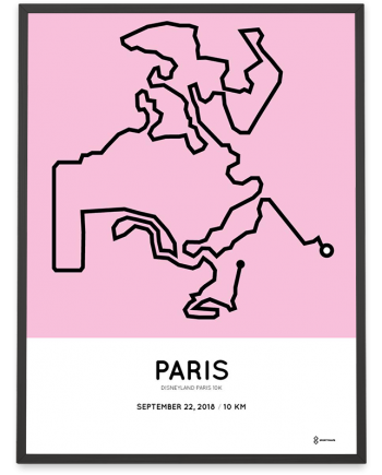 2018 Disneyland Paris 10k parcours sportymaps poster
