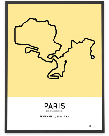 2018 Disneyland Paris 5k course poster
