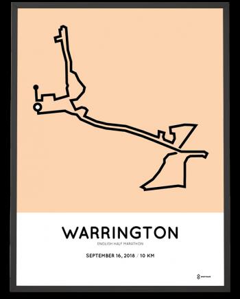 2018 Warrington English half marathon 10km course print