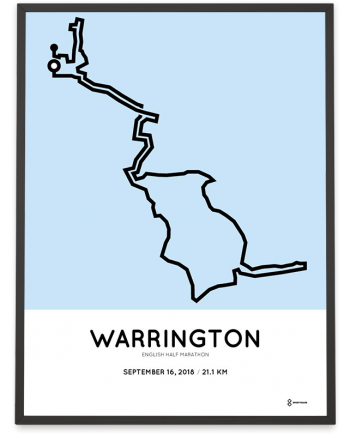 2018 English half marathon course poster