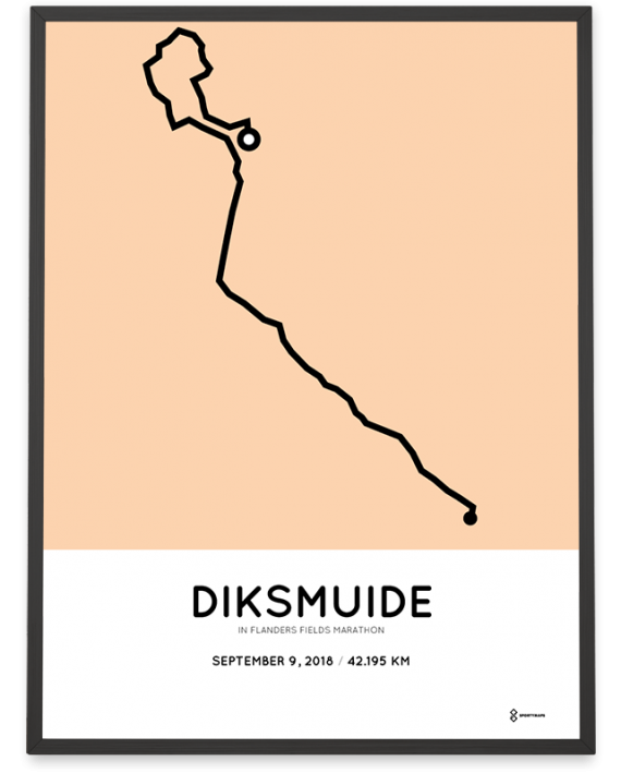 2018 In Flanders Fields marathon route print