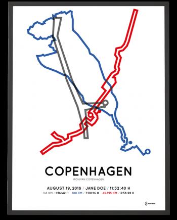 2018 Ironman Copenhagen course print