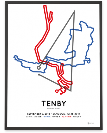 2018 Ironman Wales tenby course poster