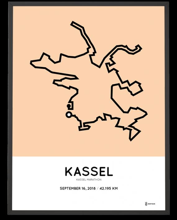 2018 Kassel marathon streckemap print
