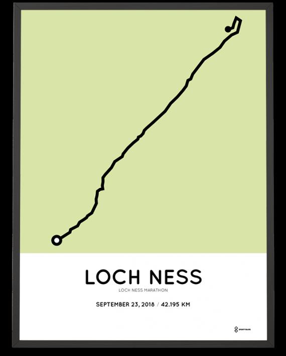 2018 Loch ness marathon route poster