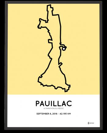 2018 Marathon du Medoc parcours poster