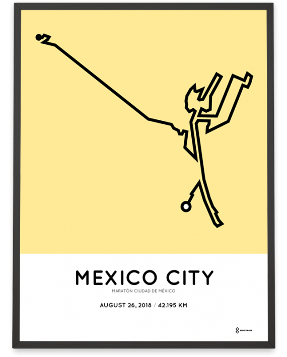2018 Mexico City marathon course poster