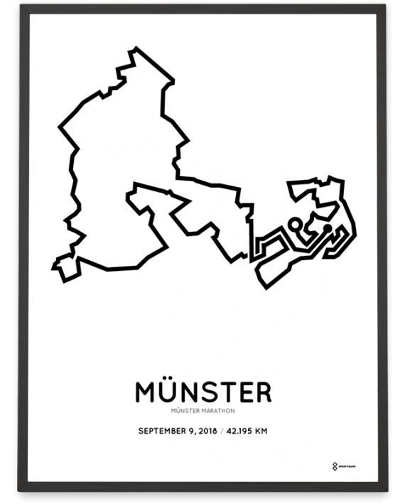 2018 Munster marathon strecke course poster