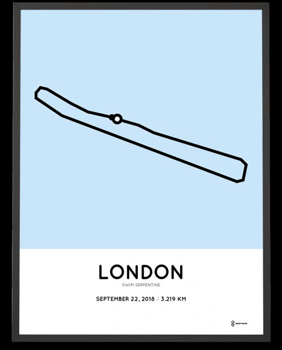 2018 Swim Serpentine course poster
