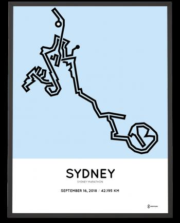 2018 Sydney marathon course poster