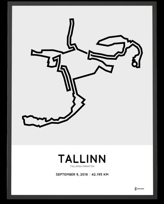 2018 Tallinn marathon course poster