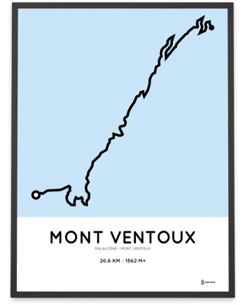Mont Ventoux Malaucene course parcours route poster