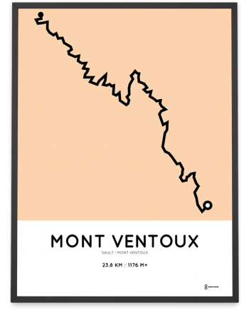 Mont Ventoux Sault course poster
