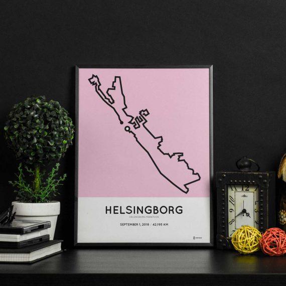 2018 helsingborg route poster