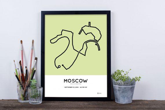 2018 moscow marathon route print sportymaps