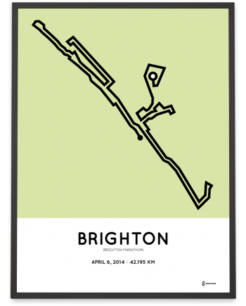2014 Brighton marathon route map poster