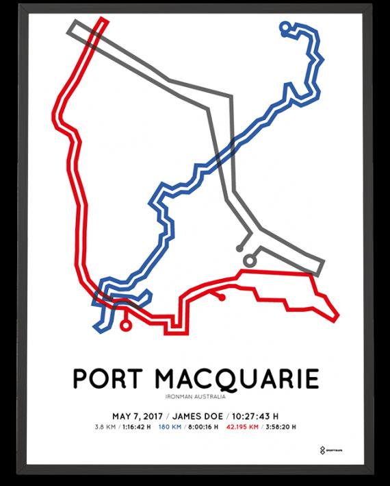 2017 Ironman Port Macquarie Australia course poster