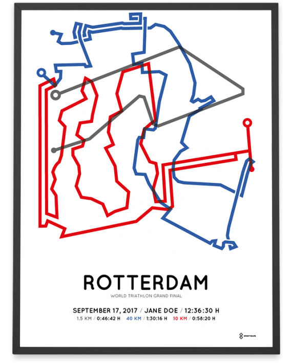 2017 World triathlon grand final rotterdam route poster