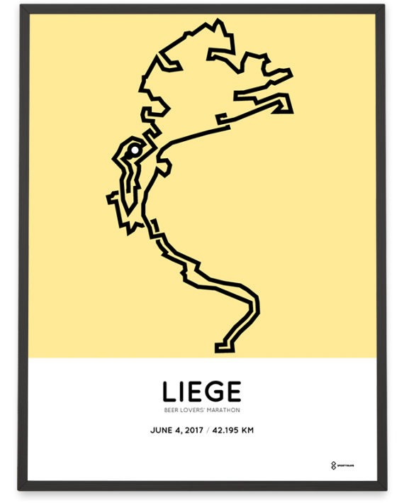 2017 beer lovers marathon liege course poster