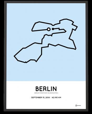 2018 Berlin marathon inlineskating course print