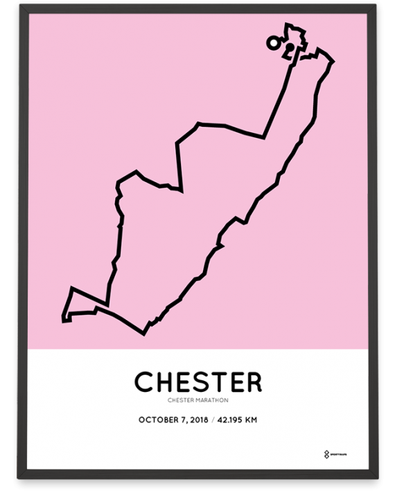 2018 Chester marathon map route poster