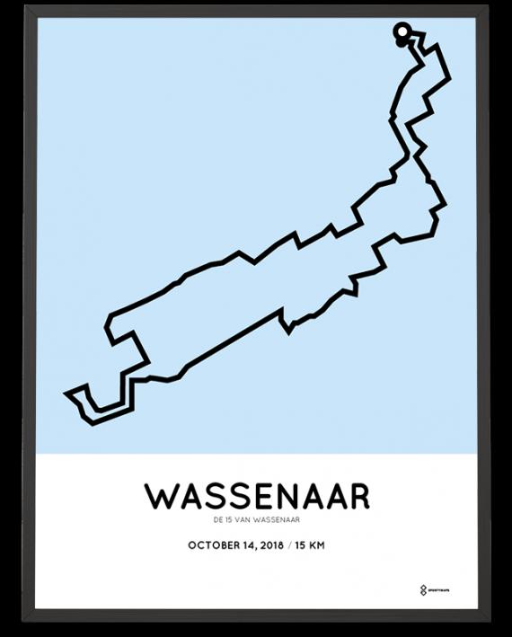 2018 De 15 van Wassenaar parcours poster