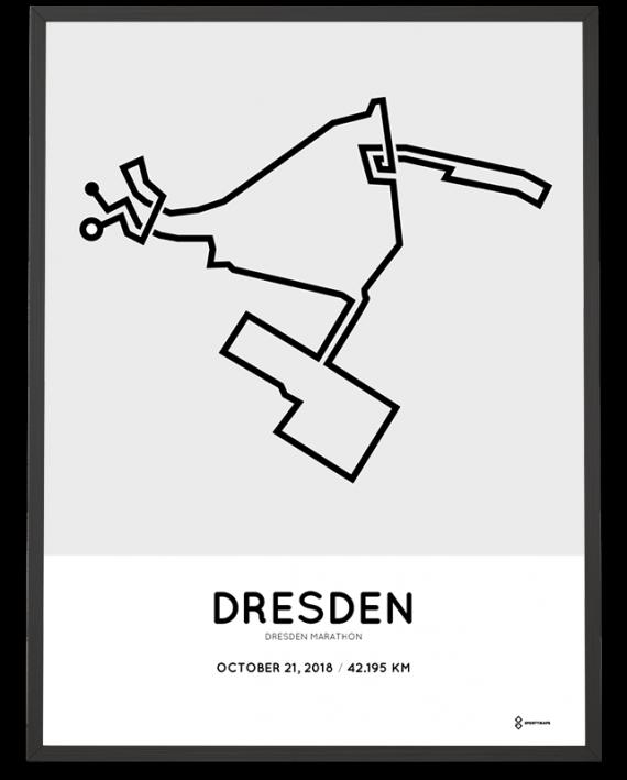 2018 Dresden marathon streckemap print