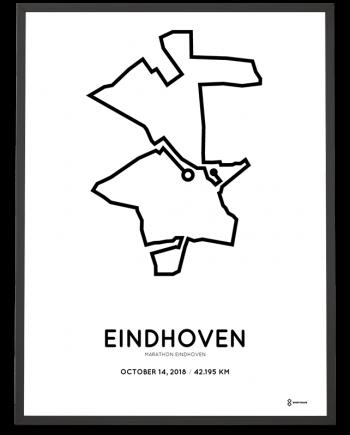2018 Eindhoven marathon parcours sportymaps print
