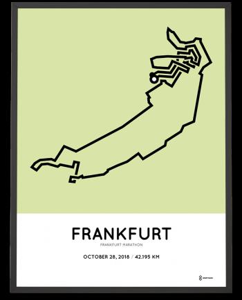 2018 Frankfurt marathon routemap sportymaps print