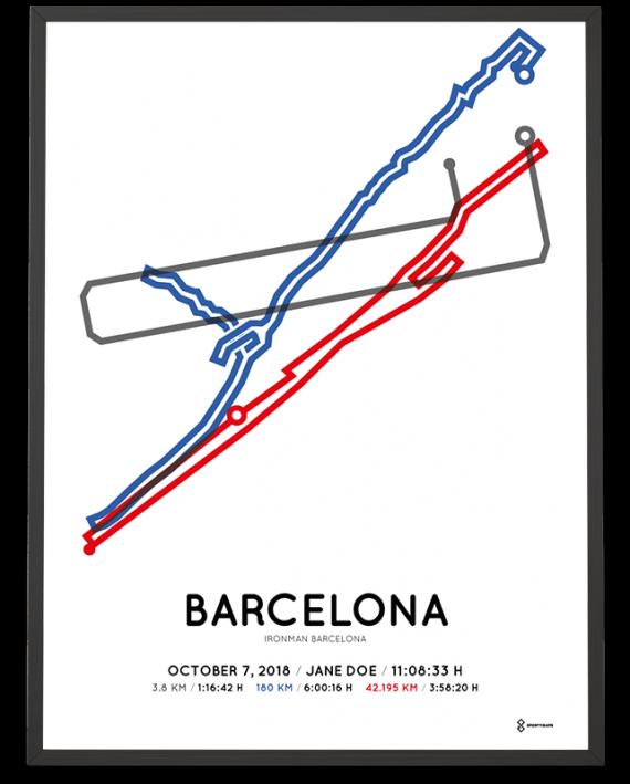 2018 Ironman Barcelona routemap sportymaps print