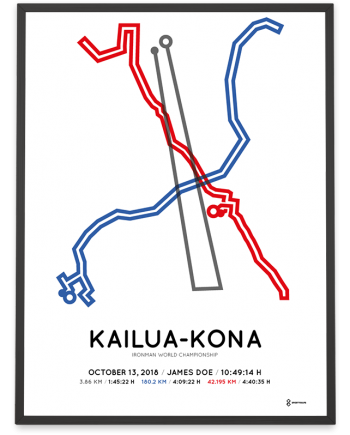 2018 Ironman world championship Kona course poster