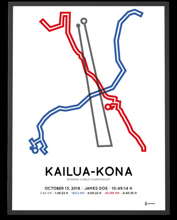 2018 Ironman world championship Kona course poster