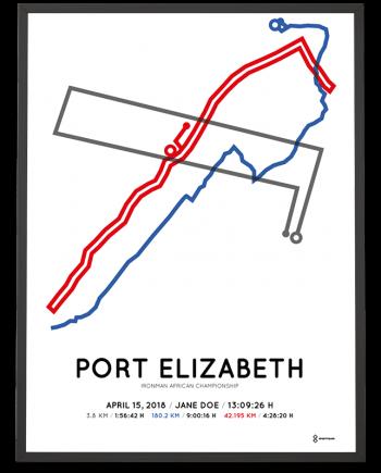 2018 Ironman Port Elizabeth course poster
