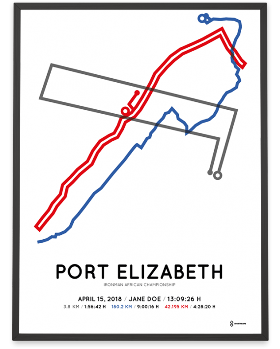 2018 Ironman Port Elizabeth course poster
