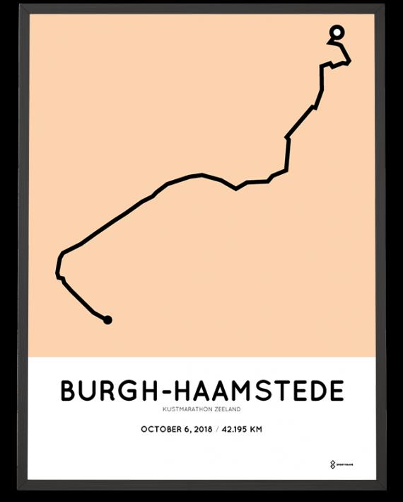 2018 Kustmarathon Zeeland route poster
