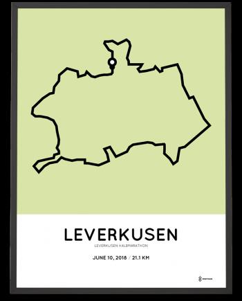 2018 Leverkusen half marathon course poster