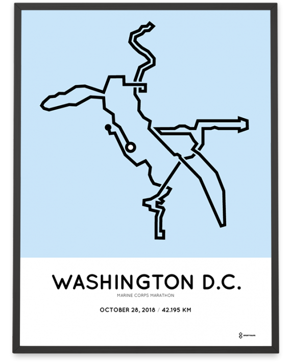 2018 Marine Corps marathon washington course poster